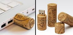 Wine Cork USB Flash Drive  These clever handmade USB drives are perfect for wine lovers.