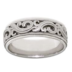 Men's ArtCarved Ring 14K White Gold $1199 #Holiday #Gift #Idea