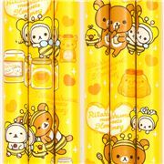 cute wooden pencil with Rilakkuma bear, friends and pink squirrels from Japan