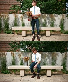 Lookbook User William H.   Hillside Gingham Tie, Band Of Outsiders Yellow Oxford, Momotaro Grand Indigo, Alden + Context Roy Boot   #WorkItWednesday #Alden Shoes are available on www.TheShoeMart.com