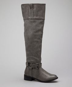 Gray Olympia Boot - sharp for fall! http://www.zulily.com/invite/blondemomblog (my affiliate link)