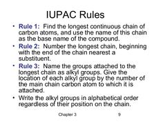 IUPAC nomenclature uses the longest continuous chain of carbon atom - Google Search