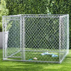 Abigail Outdoor Pet Cage Dog Kennel Steel Wire Pen Run House Shelter Yard Lucky Dog Kennel, Metal Dog Kennel, Wooden Dog Kennels, Dog Kennel Cover, Diy Dog Kennel, Kennel Ideas, Waterproof Tarp, Dog Pen, Pet Resort