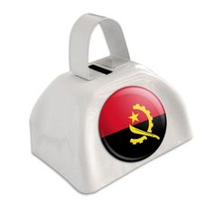 Angola National Country Flag White Cowbell Cow Bell