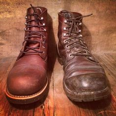 Red Wing Iron Rangers before and after