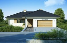 DOM.PL™ - Projekt domu FA Julia CE - DOM GC5-64 - gotowy koszt budowy Dom, Garage Doors, Outdoor Decor, Home Decor, Modern, Houses, Drawing Rooms, Interior Design, Home Interiors