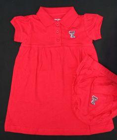 Texas Tech Baby Polo Dress Set