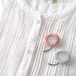 <受注制作>丸いお花の刺繍ブローチ