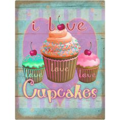 I Love Cupcakes Wall Decal http://www.retroplanet.com/PROD/46713