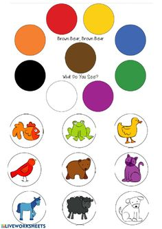 Art Activities For Toddlers, Preschool Learning Activities, Preschool Art, Infant Activities, Classroom Activities, Brown Bear Activities, Book Activities, Brown Bear Book, Preschool Colors