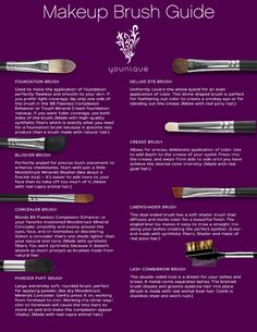 Finally!  I know what the different cosmetic brushes are for!