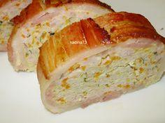 Reteta Drob de pui in bacon Romanian Food, Romanian Recipes, My Recipes, Chicken Recipes, 30 Minute Meals, Pinterest Recipes, Meatloaf, Sushi, Bacon