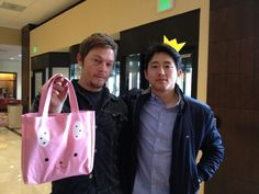 Norman Reedus and Steven Yeun (King for a day)