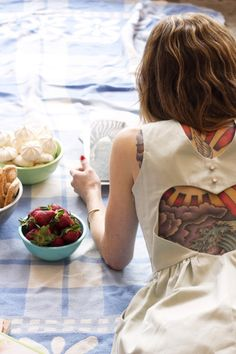 I have always loved the contrast of tattoos with pretty girly clothes.  Totally my style.