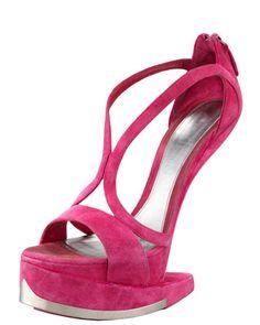 Only $6,395!! Really?? Runway Platform No-Heel Sandal by Alexander McQueen at Bergdorf Goodman.