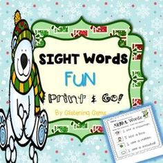 Winter:  Winter & Sight Word Pack is a kit of no prep printables! There are a variety of Winter cut and paste worksheets for students to consolidate their understanding sight word recognition. These Winter cut and paste activities would be great to use for:  literacy centers, homework or morning work.This Winter Sight Word pack includes:  7 cut and paste Winter cut and paste worksheets & answer sheets - read the simple sentence and match the picture  1 cut and paste Winter sortin