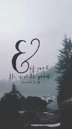 Great verse. Daniel 3:18