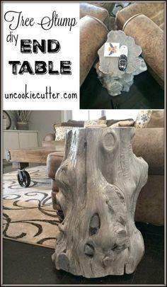 Tree Stump End Table - Uncookiecutter.com
