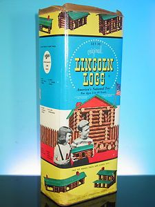 1950's Lincoln Logs #vintage #toys  We made sure our daughter had Lincoln Logs too. She and her dad would build and build.