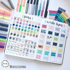 Craft supply sample pages | @b.bulletjournal