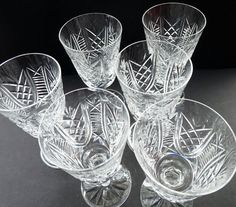 These are really beautiful large size Waterford Crystal water glasses - but of course would be much better used for wine! The large water goblets are much harder to source.  On offer here are ONE matching pair - but I do have three pairs of them available.  They are in excellent damage free condition. The pattern is called CLARE, and with engraved mark for Waterford on the base. These are the largest size of glass in the series.  Each glass is 6 7/8 inches (17.5 cm)in height - the diameter…