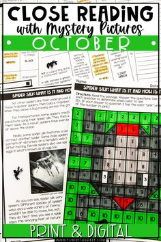 These October reading passages are the perfect way to practice close reading strategies in an engaging and fun way! Includes 3 different passages that are differentiated to 3 different levels. Each text comes with 10 text-dependent questions, a writing prompt, graphic organizers, and a mystery grid picture. Great for 3rd grade, 4th grade, 5th grade and 6th grade.