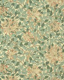 Honeysuckle Green/Beige/Pink från William Morris & Co