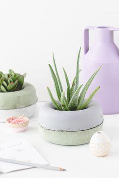 DIY // modernos Jardineras de hormigón en minutos
