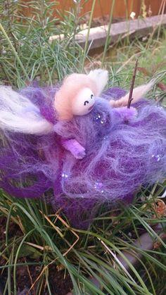 Purple Glitter Faerie by RosePetalFaeries on Etsy