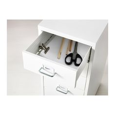 HELMER Drawer unit on casters - white - IKEA. one for each girl, art storage