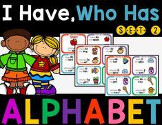 Alphabet I Have, Who Has Game Set 2 by Rock Paper Scissors | Teachers Pay Teachers