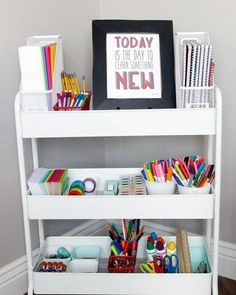 Michaels has the products you need for home decor, framing, scrapbooking and more. Shop and save on arts and crafts supplies online or at a store near you. Kids Homework Station, Homework Area, Home Learning, Learning Spaces, School Desk Organization, Organizing School Supplies, Kids Office, School Desks, Home Desk