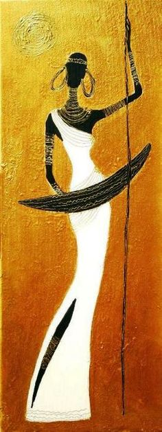 Joanna Misztal (Польша) Arte Tribal, Tribal Art, Graffiti Art, African Art Paintings, Wall Art Wallpaper, Africa Art, Black Artwork, Silhouette Art, African American Art