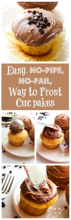 Easiest Way to Frost Cupcakes {No Piping!!}