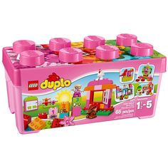 LEGO DUPLO All-in-One-Pink-Box-of-Fun 10571 Educational Toy for Toddlers         -- You can get additional details at the image link. (This is an affiliate link) #ToysGames