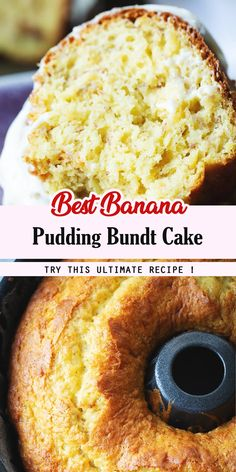 Ingredients cake 1 cup mashed over-ripe bananas (about 2 medium bananas) 1 box yellow cake mix *see note ounces pa. Delicious Cake Recipes, Cake Mix Recipes, Best Dessert Recipes, Baking Recipes, Yummy Food, Holiday Recipes, Budget Desserts, Vegan Desserts, Easy Desserts