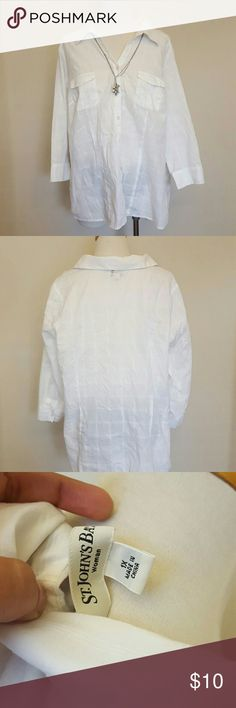 ST. JOHN'S BAY BLOUSE Gently used condition no rips nor stains. Please ask questions St. John's Bay Tops Blouses