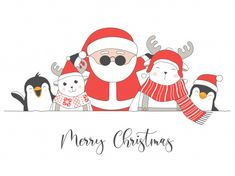 Merry Christmas Card With Christmas Characters - - Discover thousands of Premium vectors available in AI and EPS formats. Merry Christmas Calligraphy, Merry Christmas Quotes, Merry Christmas Banner, Christmas Doodles, Etsy Christmas, Noel Christmas, Christmas Greetings, Merry Christmas Drawing, Hygge Christmas