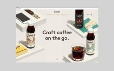 Hatch Cold Brew Coffee by Tung, Canada. #branding #packaging #webdesign