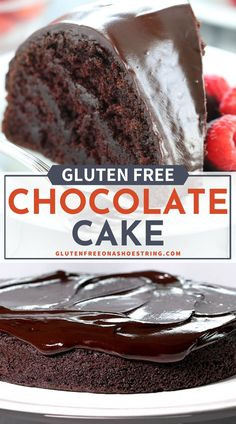 This crazy cake or gluten free chocolate cake is made with no eggs, no butter, and no chopped chocolate—but it's still super moist and tender. And packed with chocolate flavor. Naturally vegan, this super easy chocolate cake recipe is dairy free and can be made in rounds or in a bundt pan.