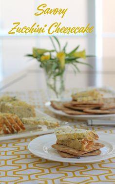 Food Lust People Love: Savory Zucchini Cheesecake #BundtBakers
