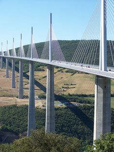 Milau Bridge, France - amazing structure and great area to explore!