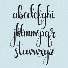 Vector - Handwritten brush style modern calligraphy cursive font. Calligraphy alphabet. Cute calligraphy letters. Isolated letters.