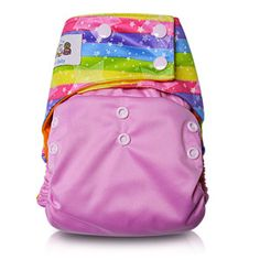 JinoBaby Lucky Color Pocket Diaper Reusable Newborn Cloth Diapers for Babies NB to 38 Pounds(with 1 insert)