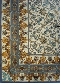 13 25m2 140 Sq Ft Antique French Triple Border Ceramic