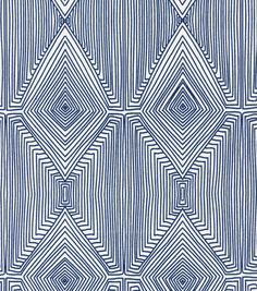 seat or bench seat cushion fabric (navy vs.black?? check in store) Home Decor Print Fabric- Nate Berkus  Baroda Square Lynwood Calypso