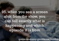 Always, this might be a problem...Grey's Anatomy Problems
