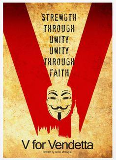 V per Vendetta A3 stampa di Poster d'epoca di Posterinspired