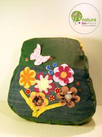 Zainetto bimbo con fiori e farfalle