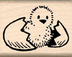 Chick Rubber Stamp  1 inch x 114 inches -- Learn more by visiting the image link.